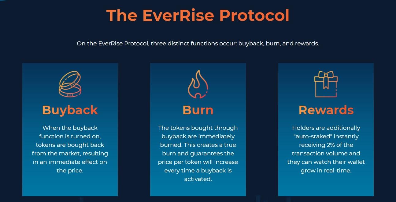 everrise tiền điện tử mã thông báo giao thức tokenomics